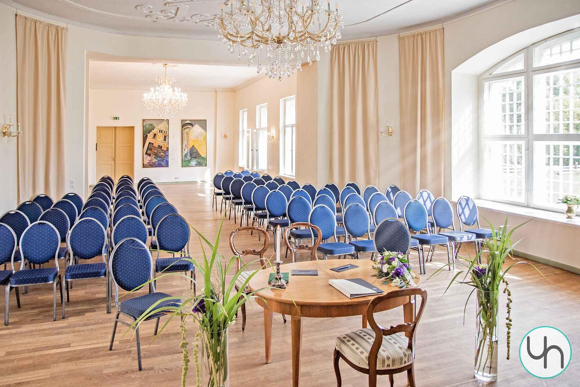 Schloss Stolpe Innenansicht Hochzeit
