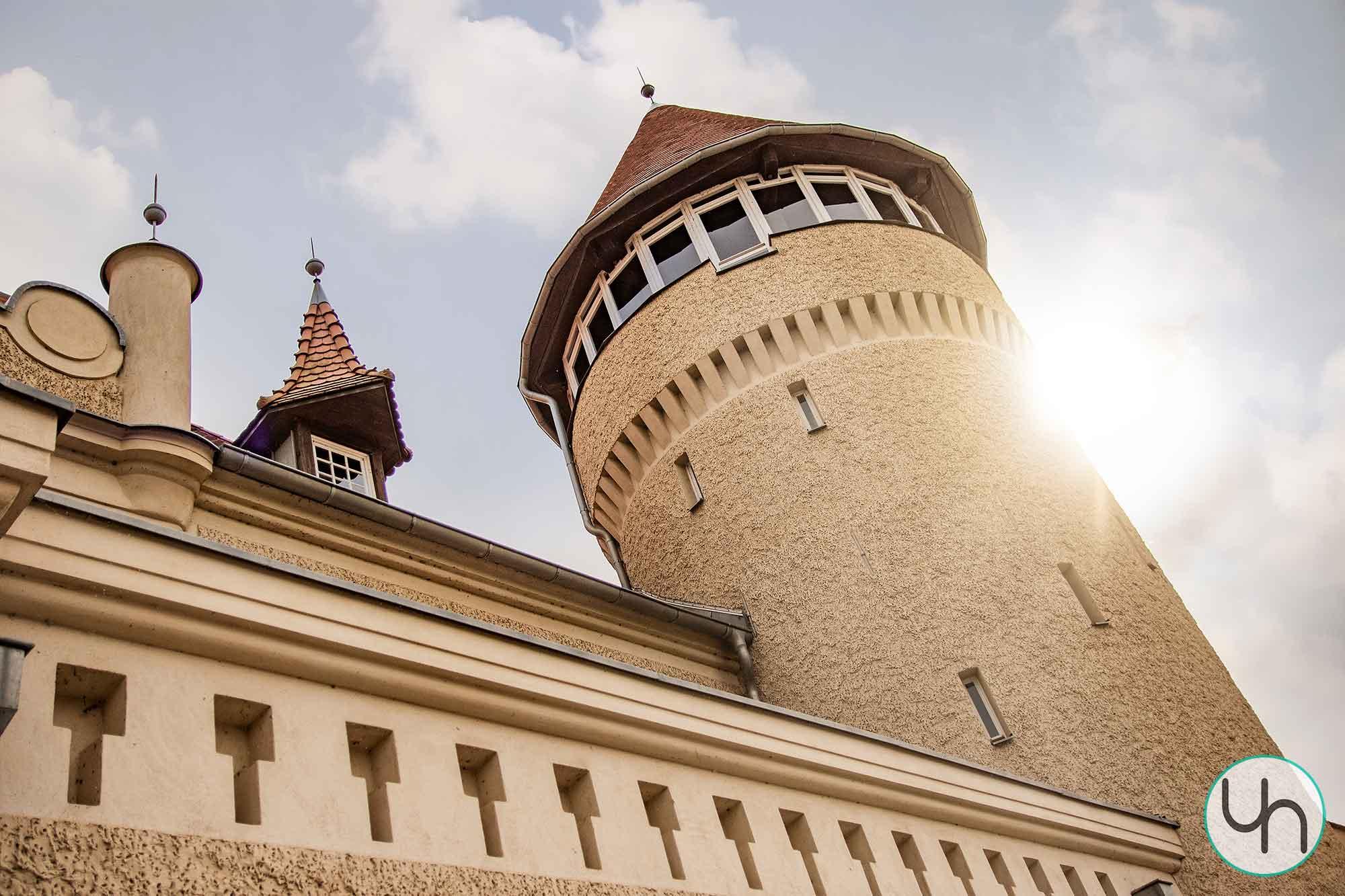 Schloss Stolpe im Gegenlicht