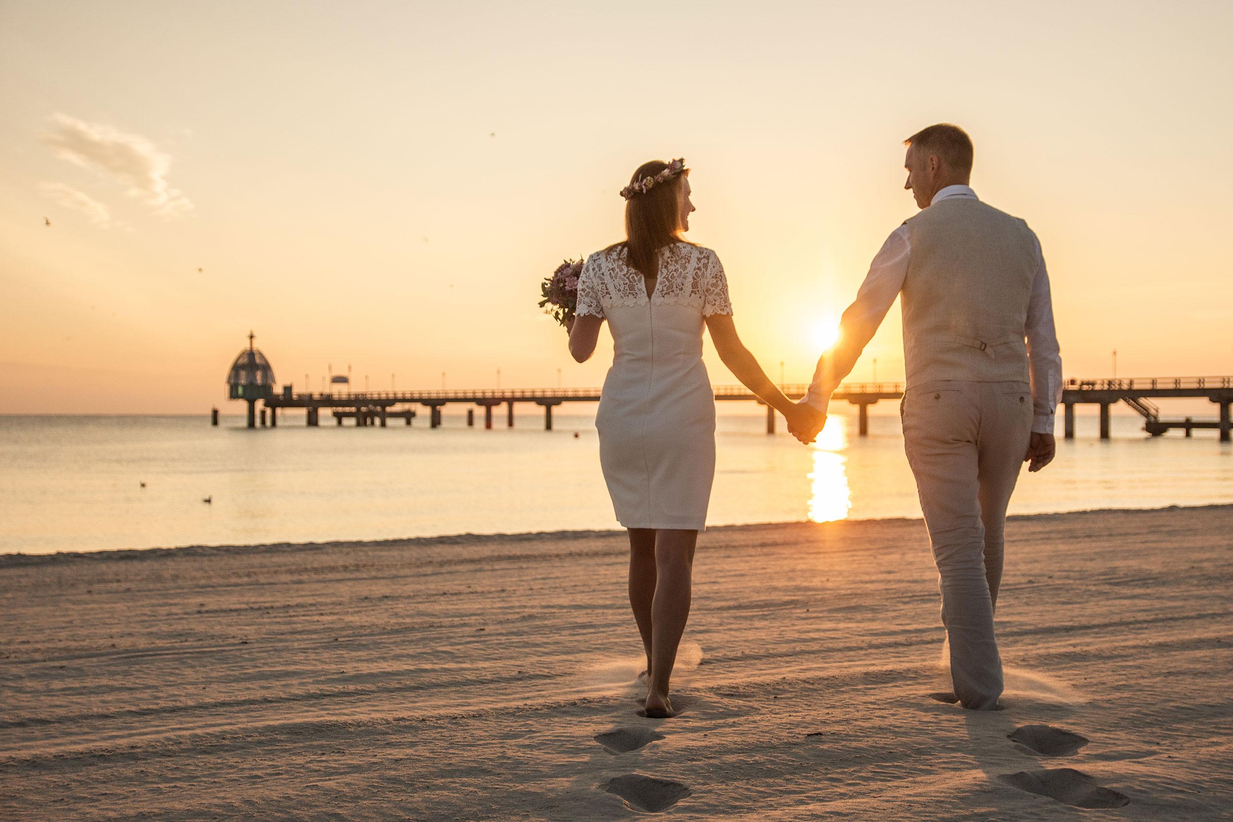 Hochzeitsfoto Sonnenaufgang Zinnowitz