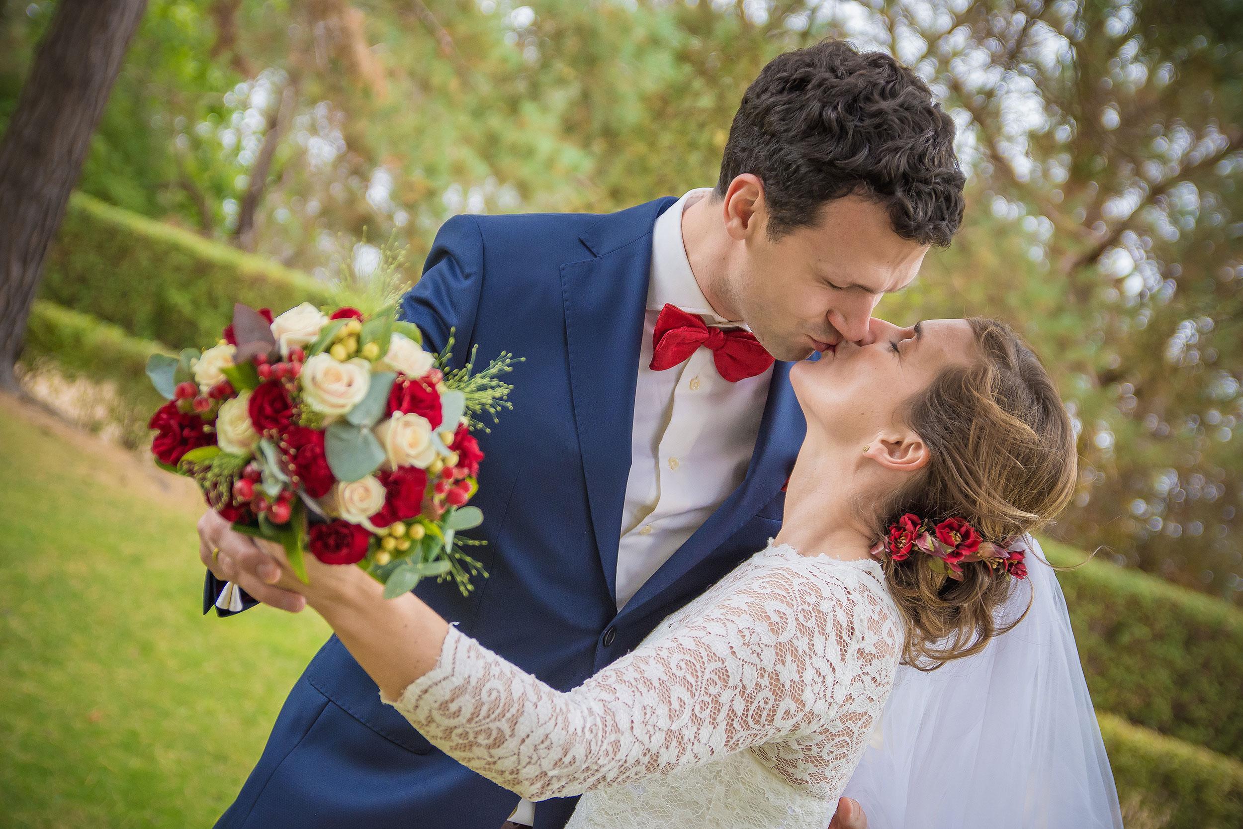 Hochzeitsfoto Kuss Zinnowitz