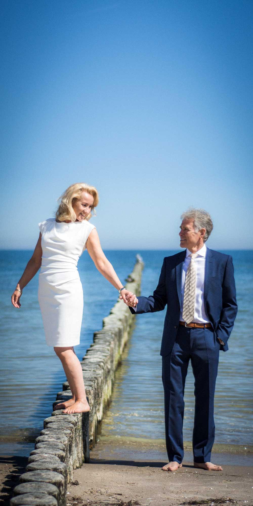 Hochzeitsfoto Buhnen Strand Ostsee Koserow