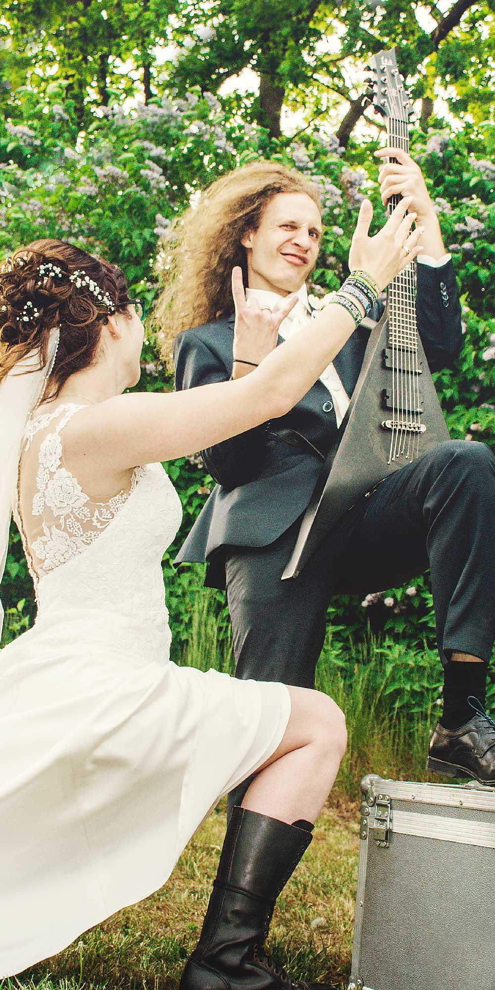 Hochzeitsfoto Rock Metal Gitarre