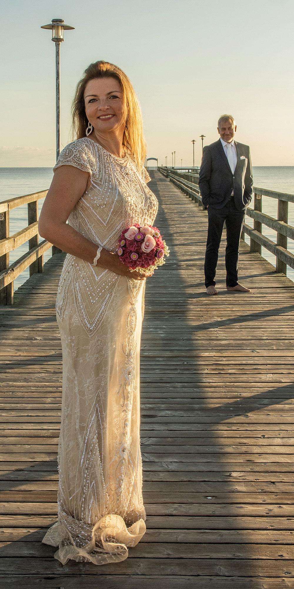 Hochzeitsfoto Ahlbeck Sonnenaufgang