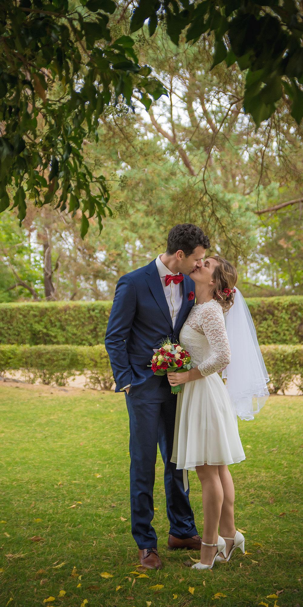 Hochzeitsfoto Zinnowitz Kuss