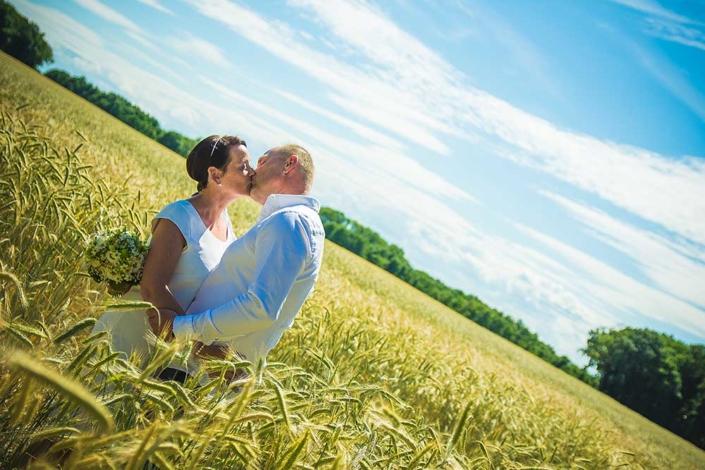 Hochzeitsfoto Feld Wolgast