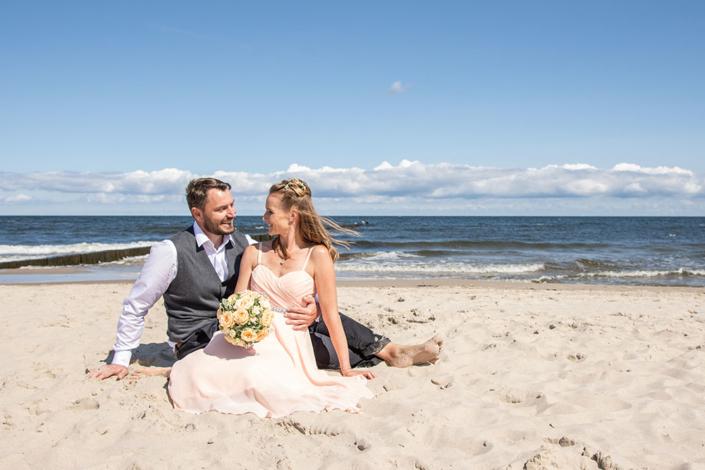 Hochzeitsfoto Strand Ostsee