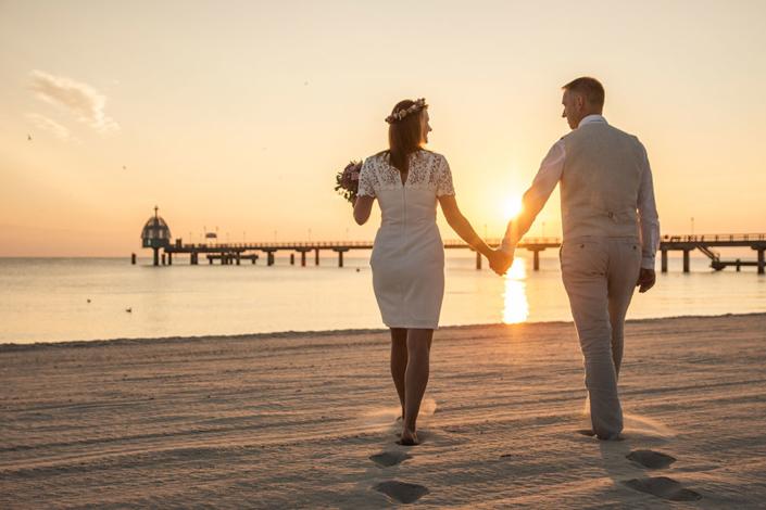 Hochzeitsfoto Zinnowitz Sonnenaufgang