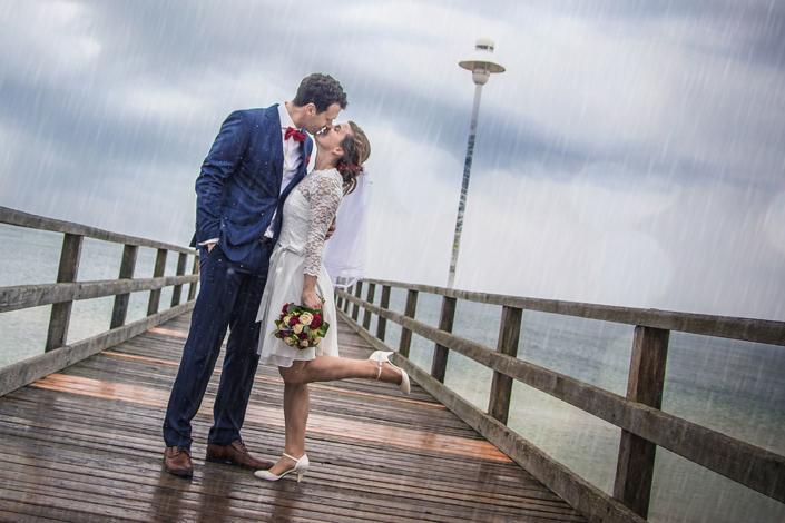 Hochzeitsfoto Seebrücke Zinnowitz