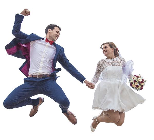 Hochzeit Sprung Usedom freigestellt