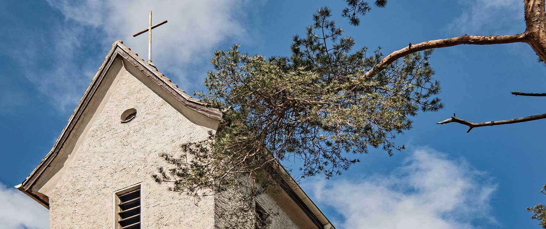Evangelische Kirche Seebad Bansin Detailfoto Kreuz