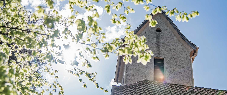 Evangelische Kirche Seebad Bansin Gegenlicht