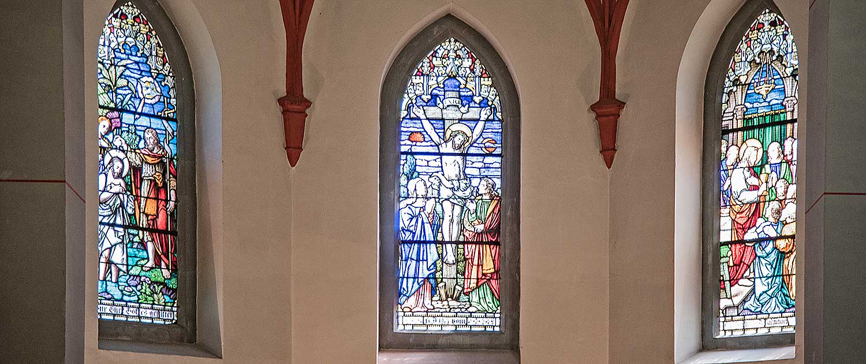 Evangelische Kirche Seebad Heringsdorf Innenaufnahme Fenster