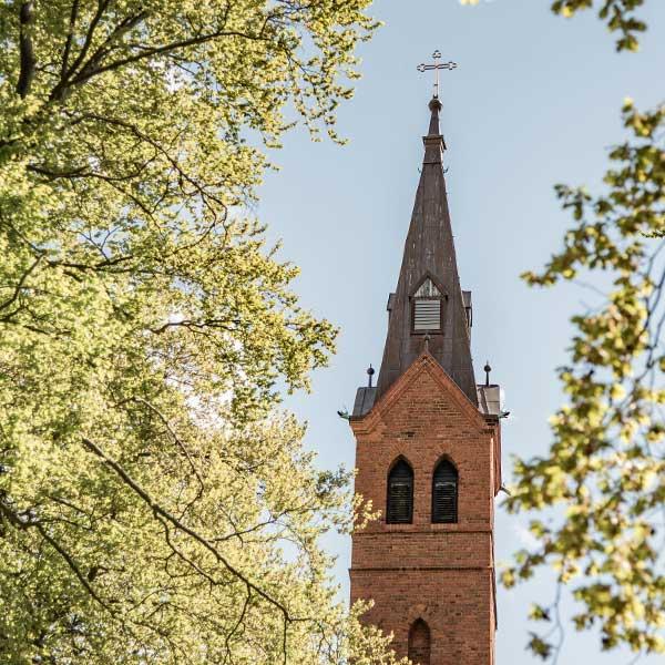 Evangelische Kirche Seebad Heringsdorf Außenaufnahme Detail Turm
