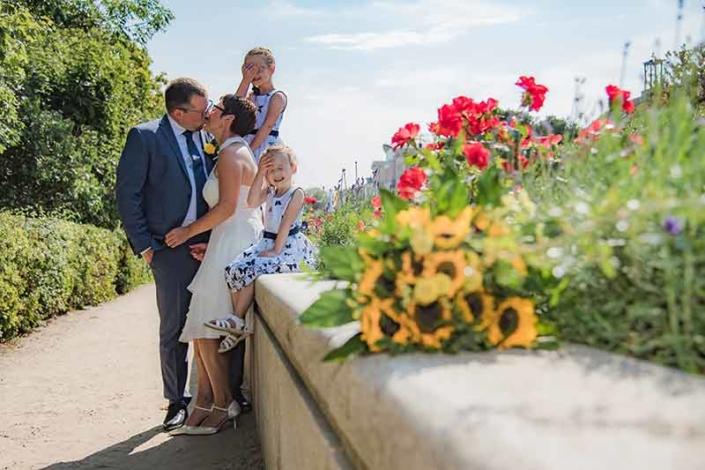 Lustiges Hochzeitsfoto Insel Usedom