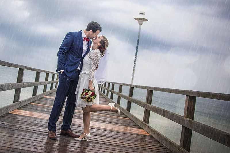 Hochzeit Usedom im Regen