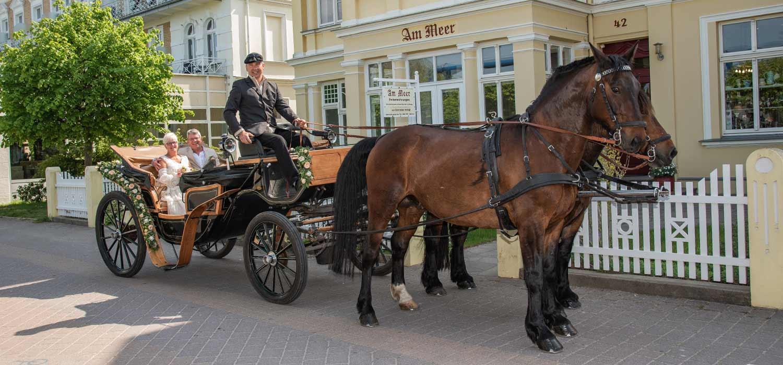 Pferdehof Ramthun Kutsche Hochzeit