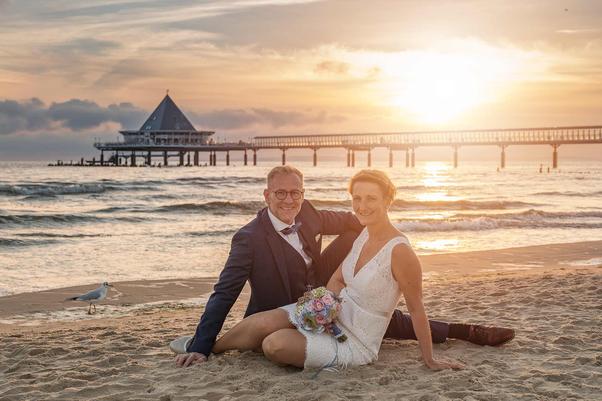 Hochzeitsfotograf Insel Usedom Trauung Hochzeit am Strand